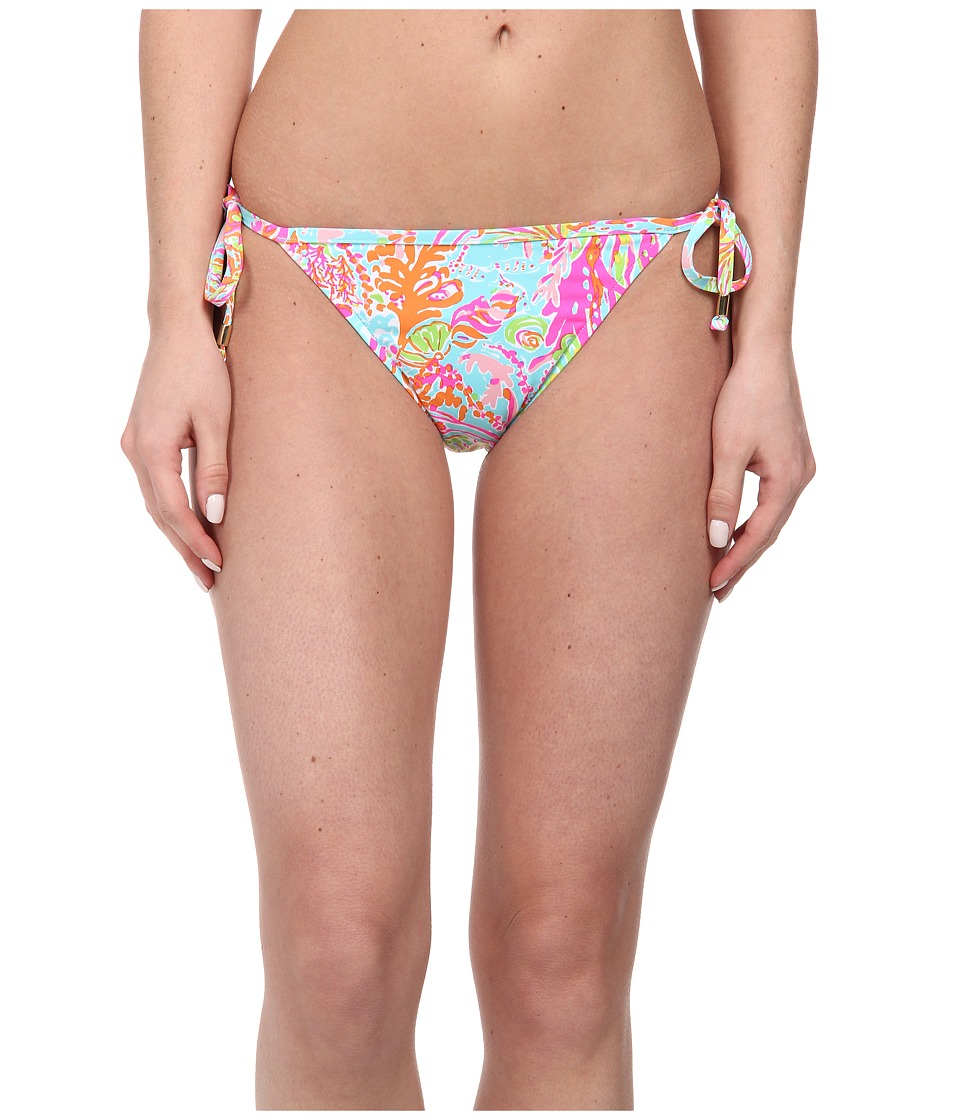 Lilly Pulitzer - Sandi String Bottom (Shorely Blue Scuba To Cuba) Women's Swimwear