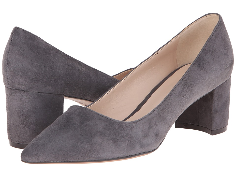 Nine West - Ike (Dark Grey Suede) Women's 1-2 inch heel Shoes