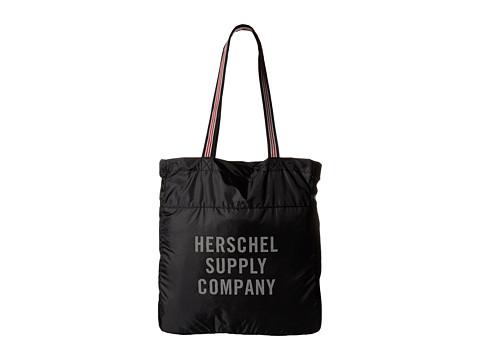 Herschel Supply Co. - Packable Travel Tote Bag (Black/Zip) Tote Handbags