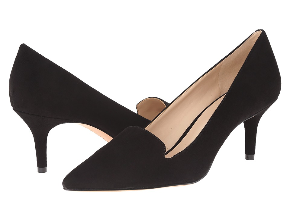 Nine West - Mafalda (Black Suede) Women's 1-2 inch heel Shoes