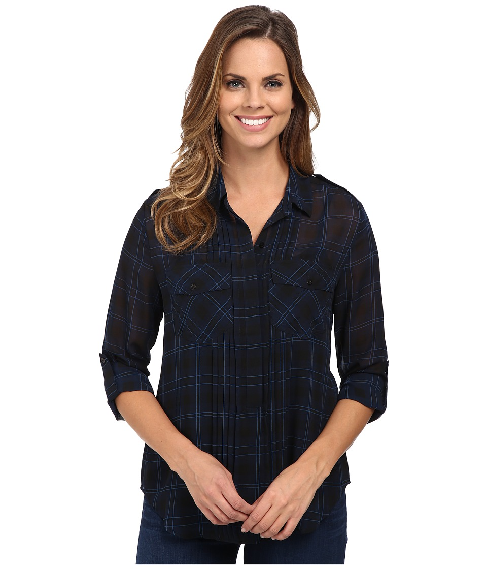 Sanctuary - Pleated Paris Shirt (Paris Plaid) Women's Clothing