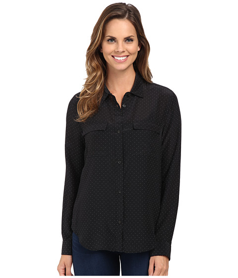 Sanctuary - Silk Boyfriend Shirt (Tiny Polka Dot) Women's Clothing