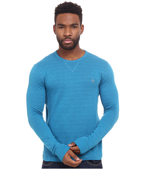 Original Penguin - Reversible Long Sleeve Tee (Seaport) Men's Clothing