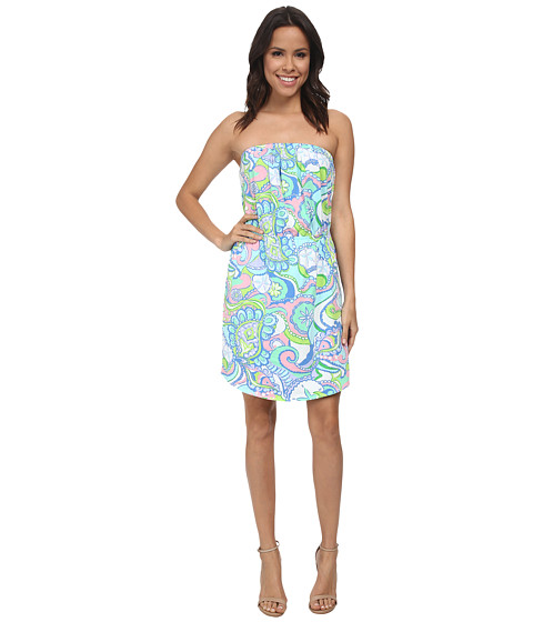 Lilly Pulitzer - Windsor Strapless Pull-On Dress (Multi) Women's Dress