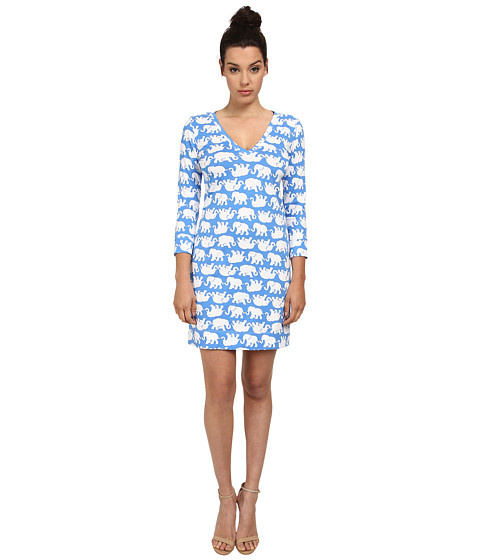 Lilly Pulitzer - Christie Dress (Bay Blue Tusk In Sun) Women