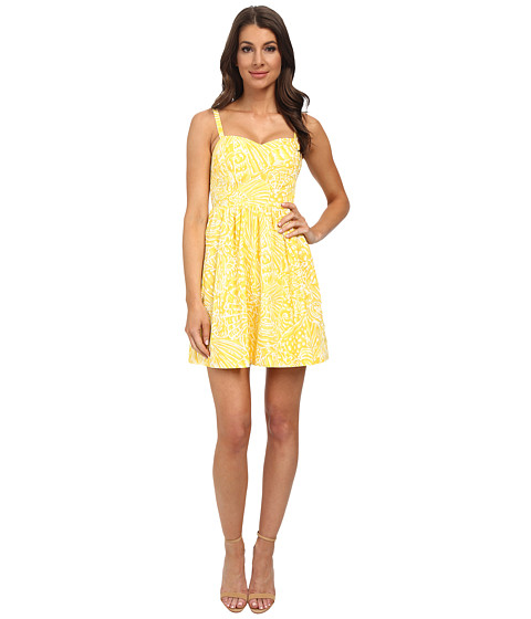 Lilly Pulitzer - Christine Dress (Sunglow Yellow Sea Cups Pigment) Women