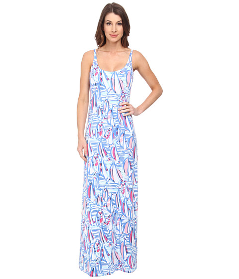 Lilly Pulitzer - Palm Maxi Dress (Resort White) Women