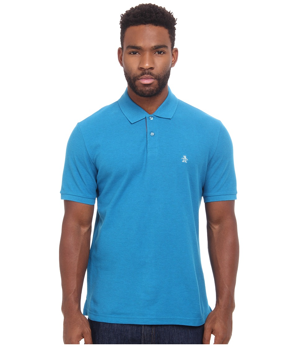 Original Penguin - Daddy-O Polo (Seaport) Men's Short Sleeve Pullover