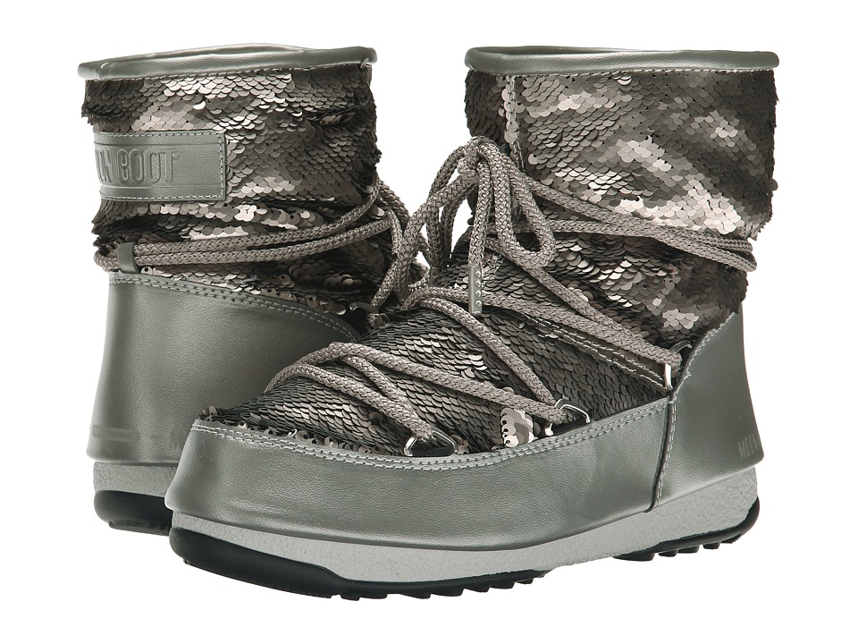 Tecnica - Moon Boot W.E. Low Paillettes (Pearl Grey) Work Boots