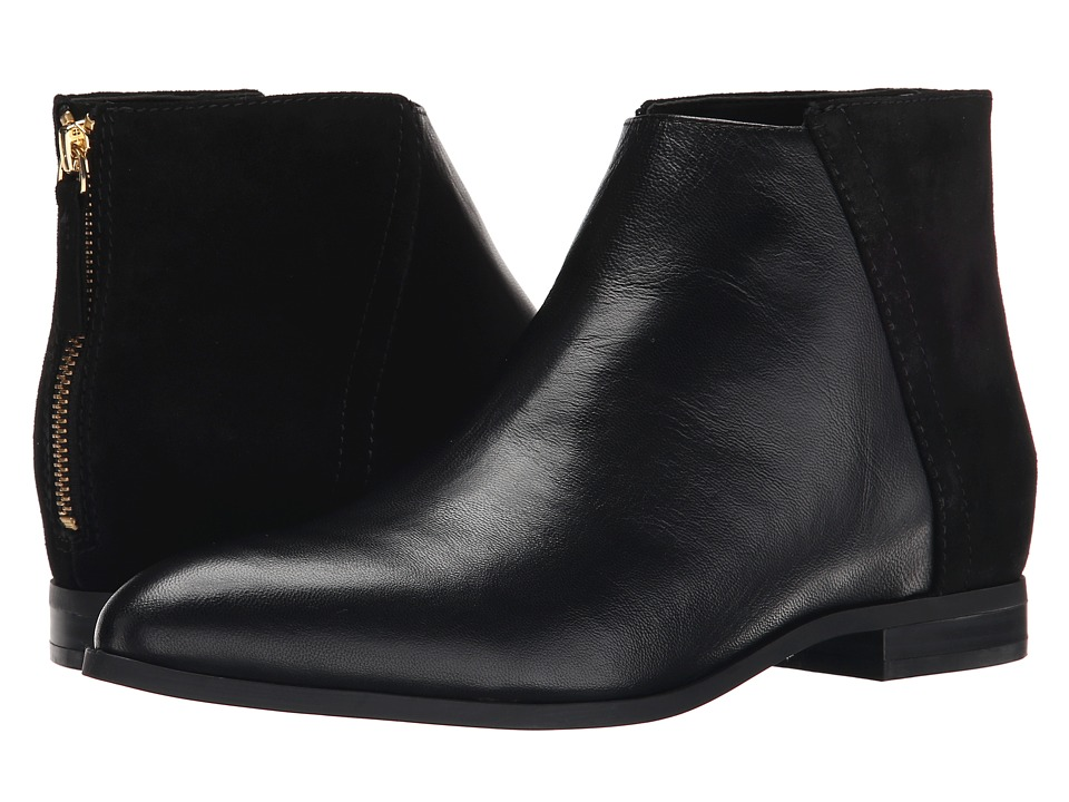 Nine West Orion Black-Black Leather Boots