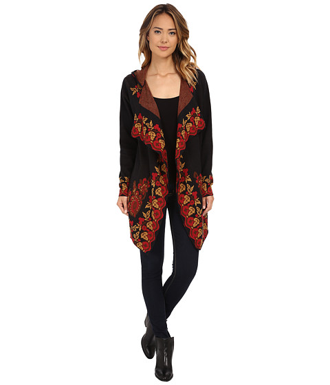 Tasha Polizzi - Carriage Blanket Cardigan (Black) Women's Sweater