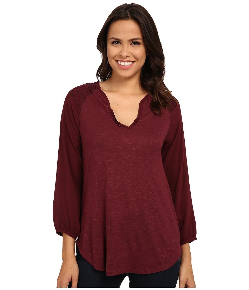 Sanctuary - Wayward Boho Top (Mulberry/Mink) Women's Long Sleeve Pullover