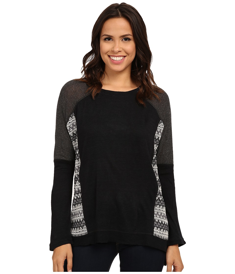 Sanctuary - Long Dusk Pullover Top (Onyx) Women's Long Sleeve Pullover