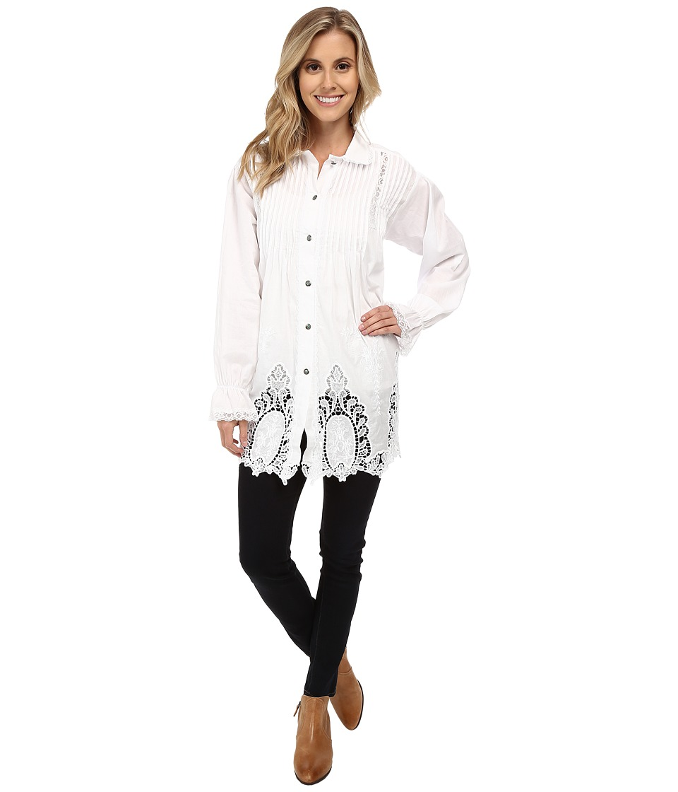 Tasha Polizzi - Kate Shirt (White) Women's Long Sleeve Button Up