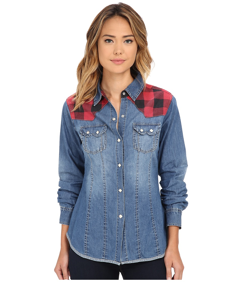 Tasha Polizzi - Buffalo Shirt (Blue) Women's Clothing
