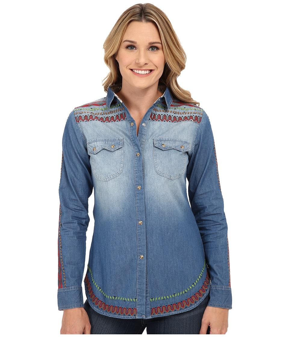 Tasha Polizzi - Cibola Shirt (Blue 1) Women's Long Sleeve Button Up