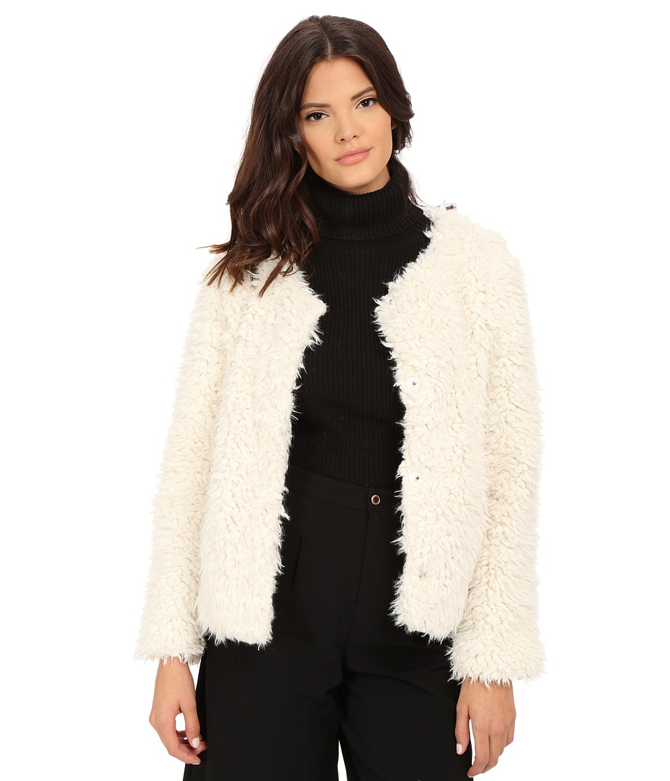 Sanctuary - Unreal Fur Jacket (Natural) Women's Coat