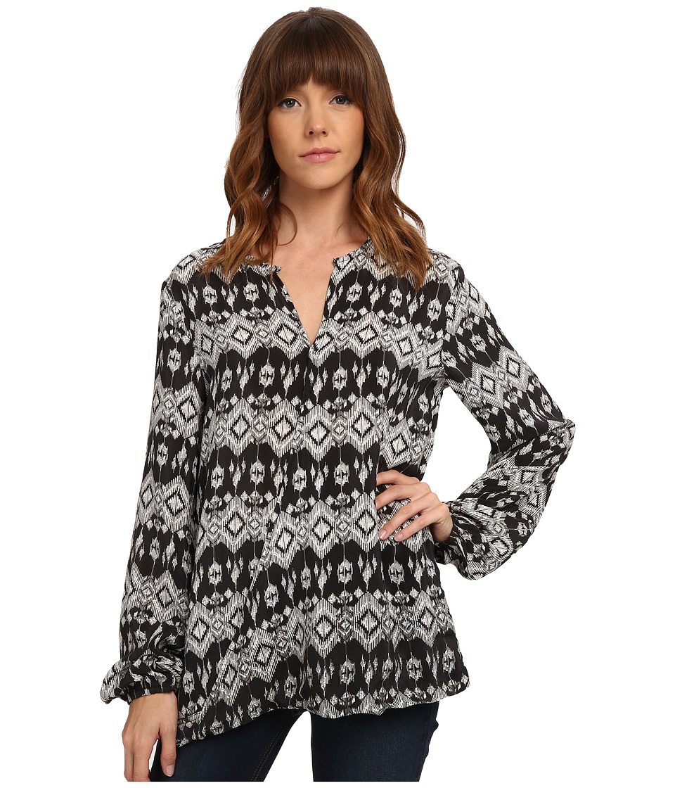 Tolani - Allison Top (Black Ikat) Women's Clothing