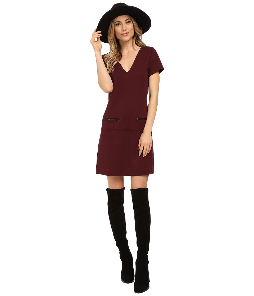 Sanctuary - Little Red Dress (Mulberry) Women's Dress