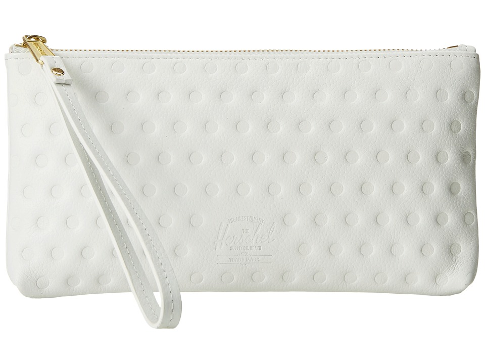 Herschel Supply Co. - Casey (White Emboss) Clutch Handbags