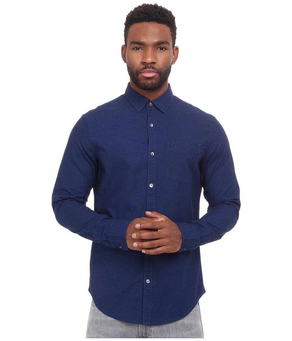 Original Penguin - Oxford Woven Heritage Shirt (Dark True Indigo) Men