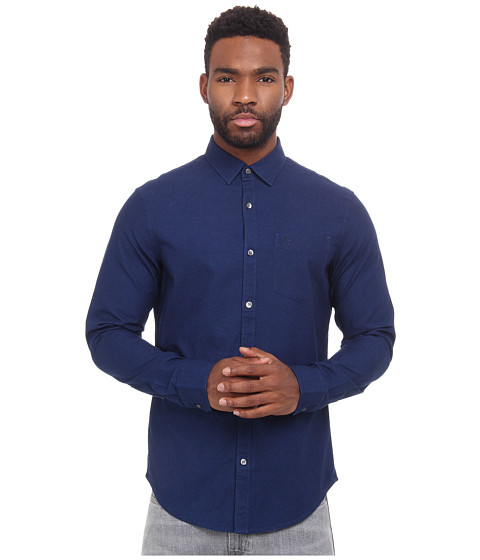 Original Penguin - Oxford Woven Heritage Shirt (Dark True Indigo) Men's Clothing