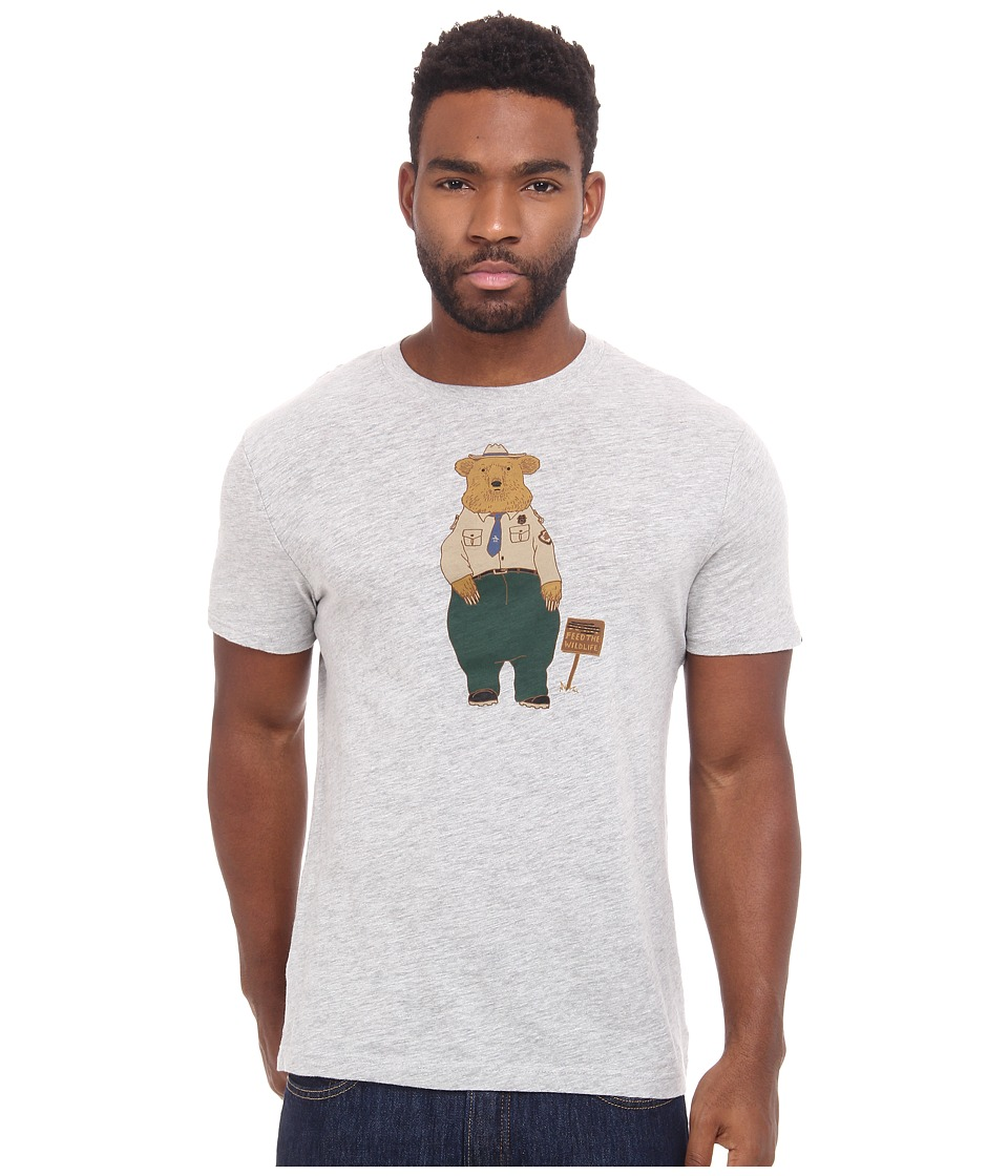 Original Penguin - Ranger Bear Heritage Tee (Rain Heather) Men's T Shirt