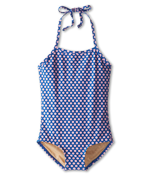 Toobydoo - Paloma Plage Swimsuit (Infant/Toddler/Little Kids/Big Kids) (Navy/Pink) Girl