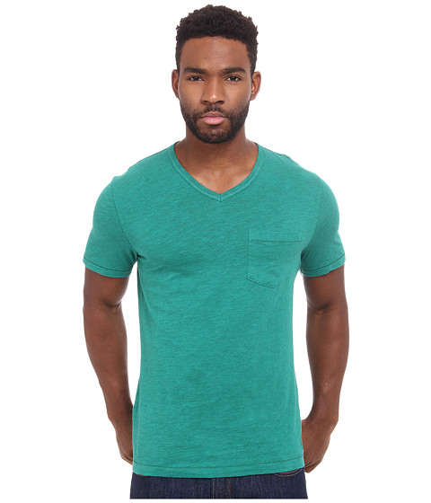 Original Penguin - Bing V-Neck Heritage (Ultramarine Green) Men's Clothing