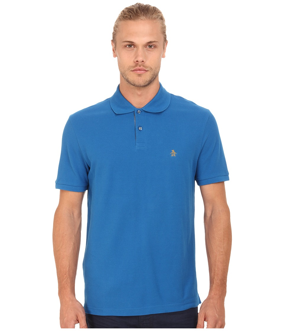 Original Penguin - Daddy-O Polo (Snorkel Blue) Men's Short Sleeve Pullover