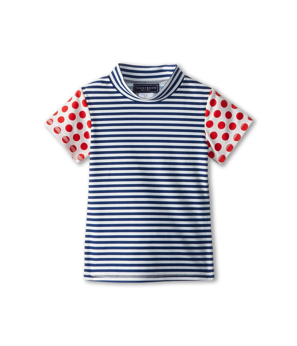 Toobydoo - Surf Shirt Red Dots/Stripe (Infant/Toddler/Little Kids/Big Kids) (Multi) Girl's Swimwear