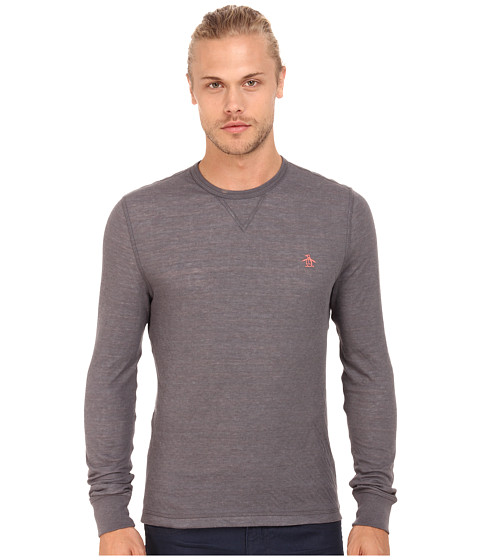 Original Penguin - Reversible Long Sleeve Tee (Eiffel Tower) Men