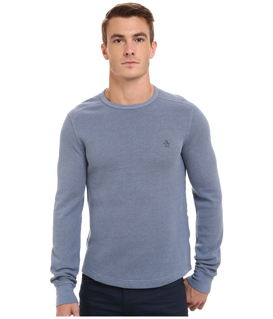 Original Penguin - Reversible Waffle Crew Sweatshirt (Infinity) Men's Sweatshirt
