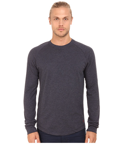 Original Penguin - New Bada Long Sleeve Heritage (Poseidon Blue) Men