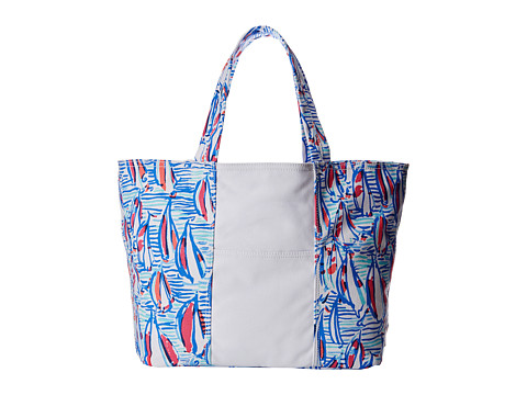 Lilly Pulitzer - Beach Tote (Resort White Red Right Return) Tote Handbags