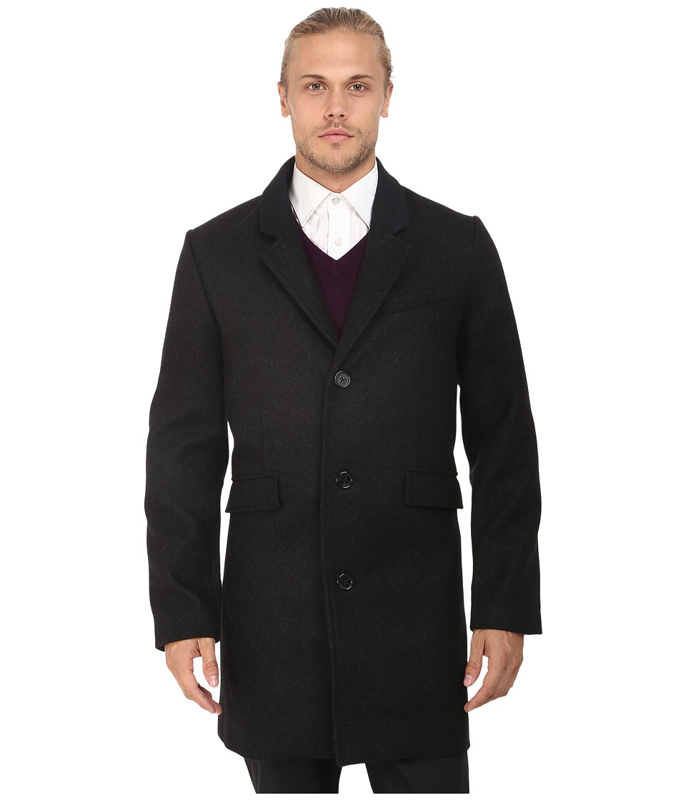 Original Penguin - Aristo Topcoat (Dark Charcoal Heather) Men's Coat
