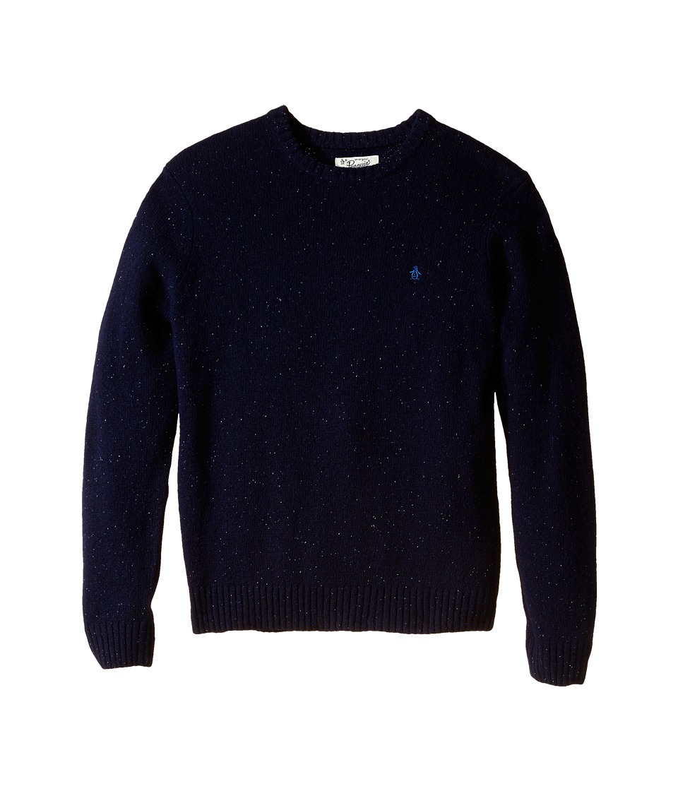 Original Penguin - Lambswool with Donegal (Dark Sapphire) Men's Clothing