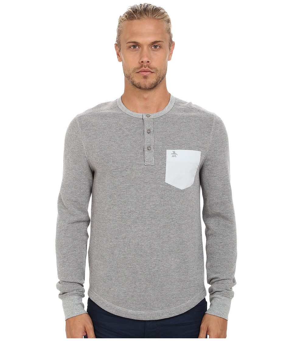 Original Penguin - Waffle Henley (Rain Heather) Men