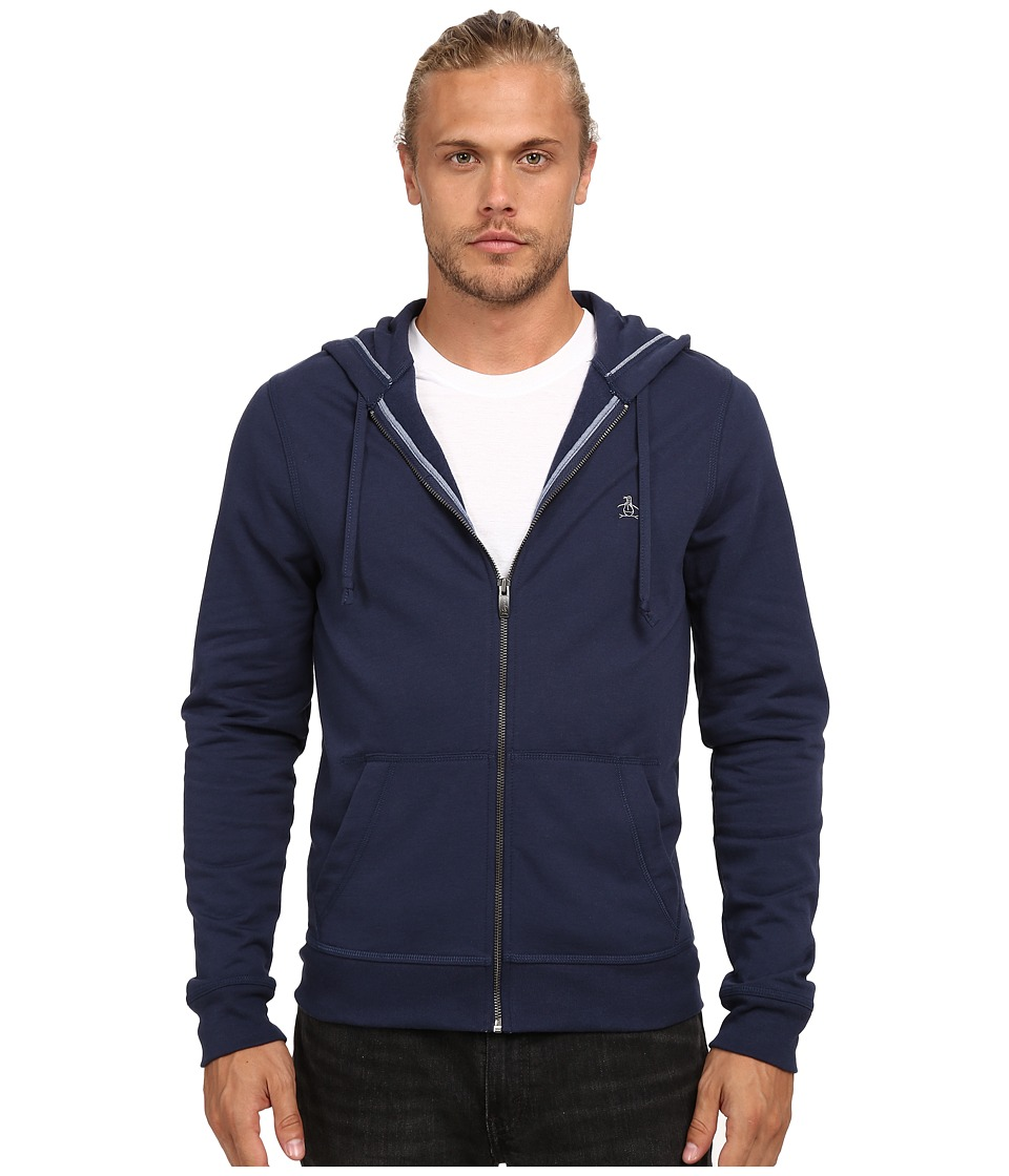 Original Penguin - P55 Solid Hoodie (Dress Blues) Men's Sweatshirt