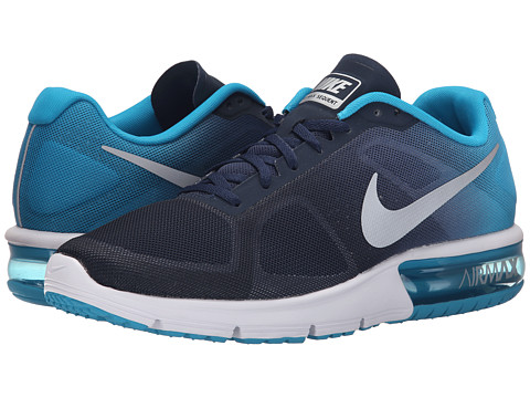 Nike - Air Max Sequent (Midnight Navy/Blue Lagoon/Stratus Blue/Metallic Silver) Men's Running Shoes