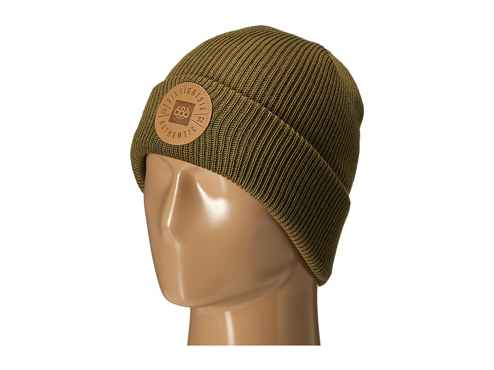686 - Good Times Roll-Up Beanie (Olive Drab) Knit Hats
