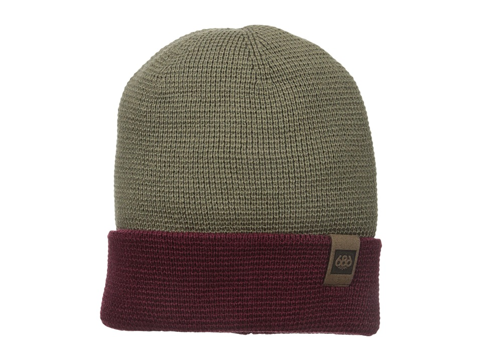 686 - Waffe Roll-Up Beanie (Tobacco) Knit Hats