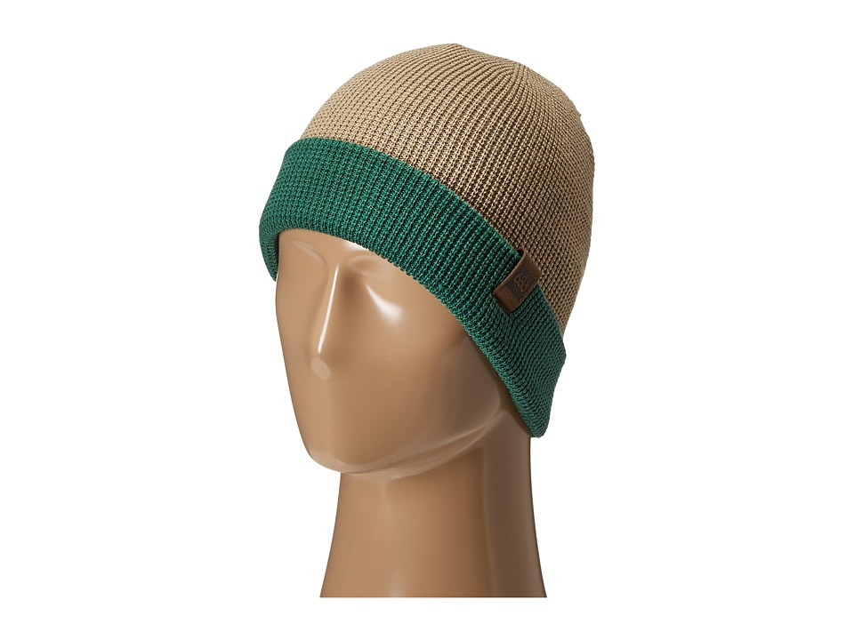 686 - Waffe Roll-Up Beanie (Khaki) Knit Hats