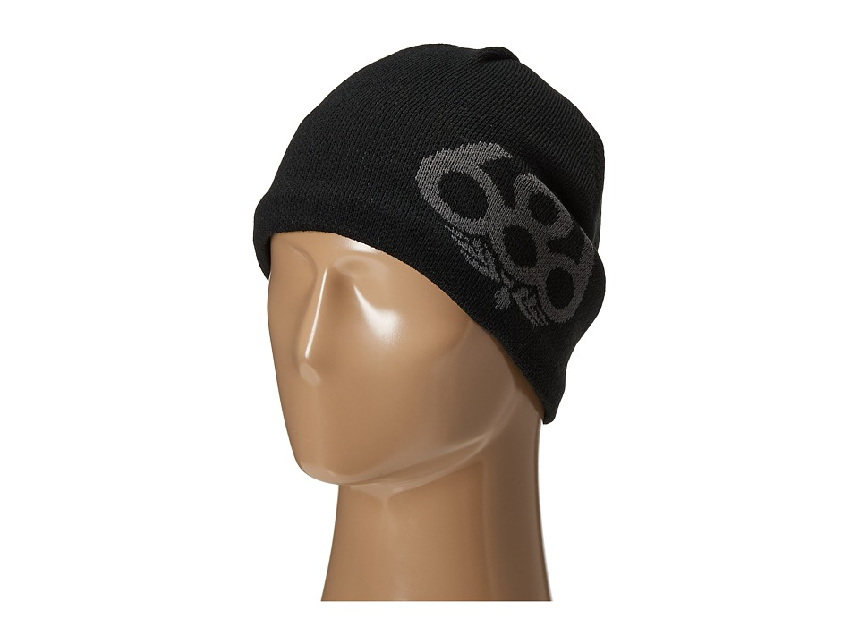 686 - Wreath Fleece Beanie (Black) Knit Hats