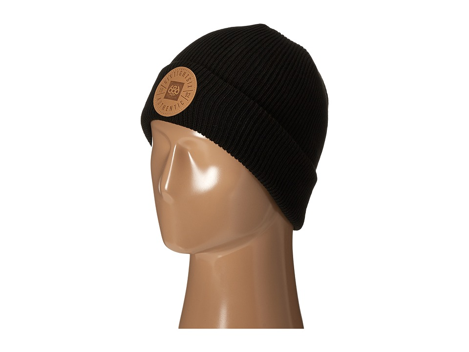 686 - Good Times Roll-Up Beanie (Black) Knit Hats