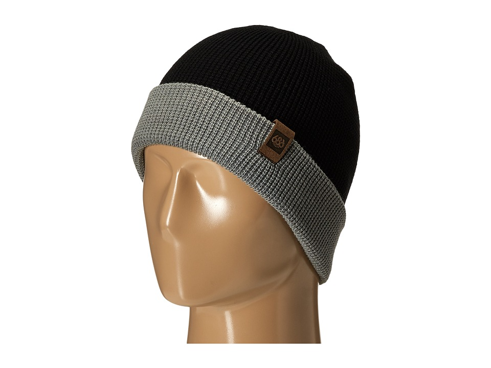 686 - Waffe Roll-Up Beanie (Black) Knit Hats