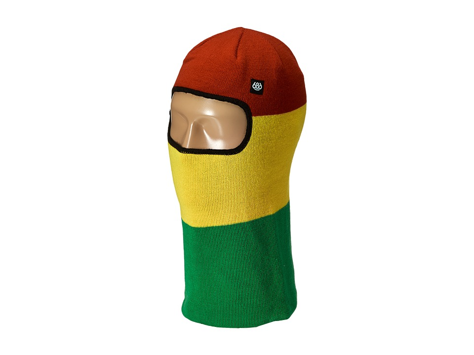 686 - Full Face Balaclava (Rasta) Knit Hats