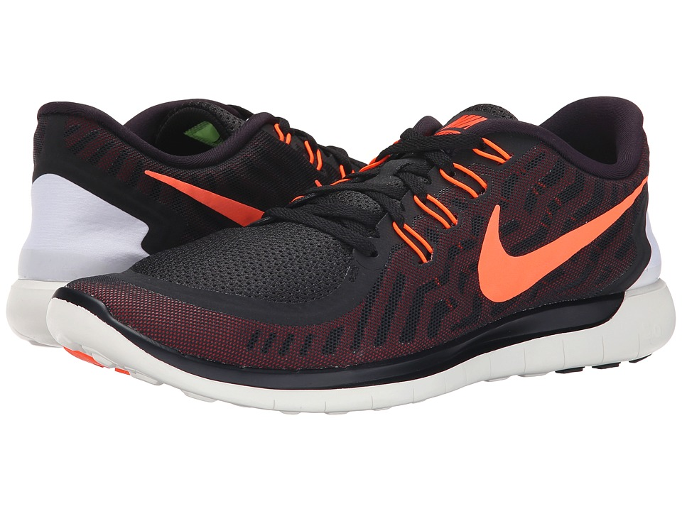 Nike - Free 5.0 (Black/University Red/White/Hyper Orange) Men