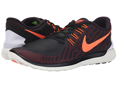 Nike - Free 5.0 (Black/University Red/White/Hyper Orange) Men's Running Shoes