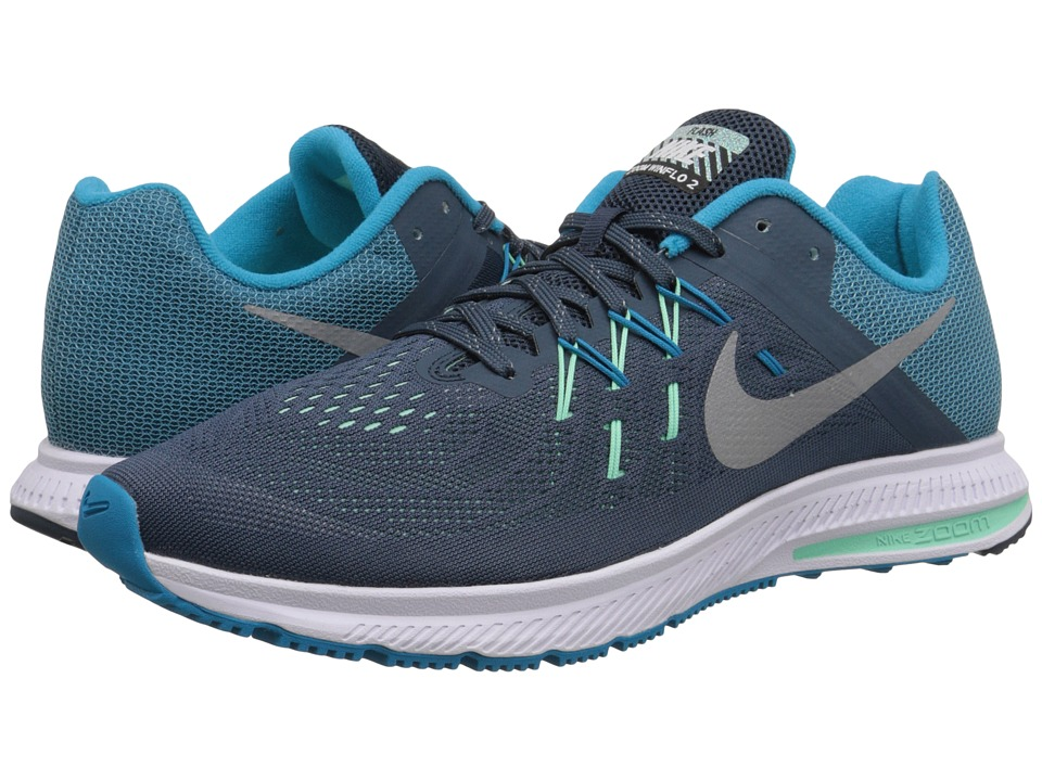 Nike - Zoom Winflo 2 Flash (Squadron Blue/Blue Lagoon/Green Glow/Reflect Silver) Men's Running Shoes